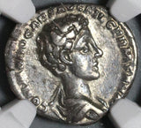 175 NGC VF Commodus Caesar Roman Empire Denarius German Defeat (19102603C)