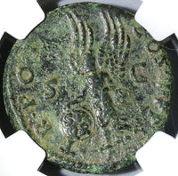 101 NGC VF Trajan Roman Empire AE As Victory Shield Inscribed SPQR (19042601C)