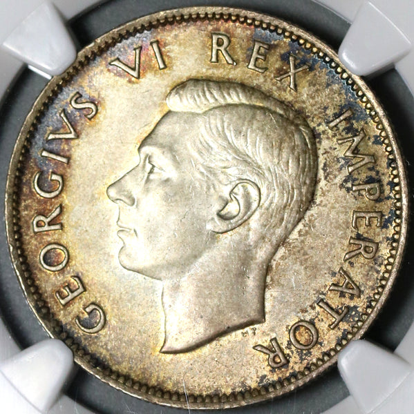 1942 NGC MS 63 South Africa Silver 2.5 Shillings George VI Coin (21012804C)