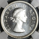 1954 NGC PF 65 South Africa Proof 2 1/2 Shillings 1/2 Crown Silver Coin (19100905C)