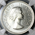 1960 NGC PF 65 South Africa Proof 2 1/2 Shillings 1/2 Crown Silver Coin (19100906C)