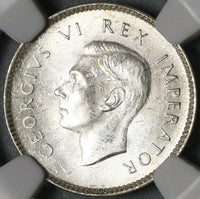 1937 NGC MS 63 South Africa 3 Pence George VI Silver Coin (20082302C)