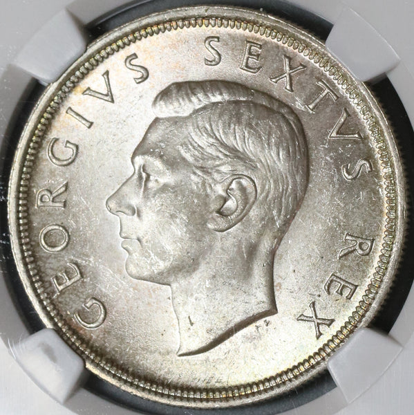 1949 NGC MS 64 South Africa 5 Shillings Springbok Silver Crown Coin (19101101C)