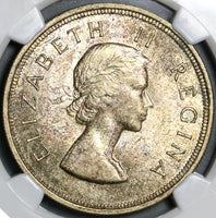 1955 NGC MS 63 South Africa 5 Shillings Elizabeth Silver 40K Coin (21012806C)