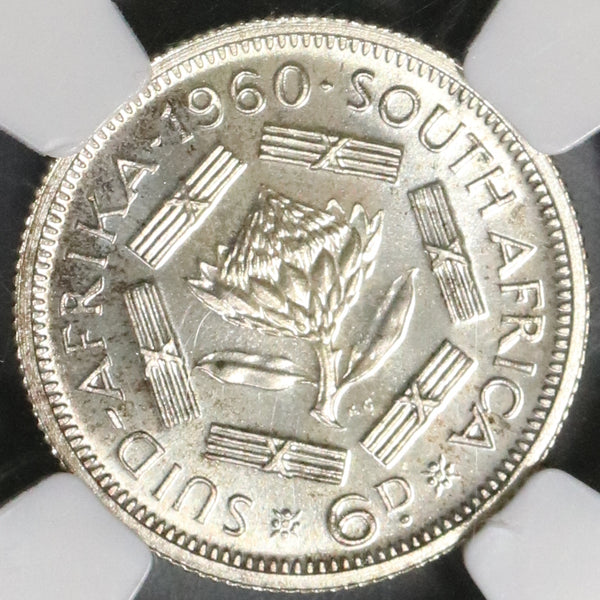 1960 South Africa 6 Pence NGC PF 65 Last Union Proof Coin (18081103C)