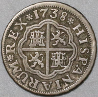 1738-S Spain 1 Real  VF Philip V Silver Seville Mint Coin (20071301R)