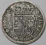 1721-CA Spain 2 Reales Philip V Silver Cuenca Mint Scarce Coin (20100101R)