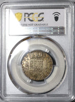1723-M PCGS AU Det Spain 2 Reales Philip V Silver Madrid Mint Coin (20053104C)