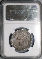 1469 NGC XF 45 Spain Ferdinand Isabella 4 Reales Columbus Cob Silver Coin (20112302C)