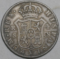 1803/1703-S Spain 4 Reales Charles IV Silver Seville Mint Coin (20121706R)