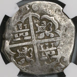1630-R NGC VF 30 Spain 8 Reales Seville Mint Philip IV Cob Silver Coin (20060301C)