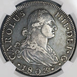 1803-S NGC VF 30 Spain 8 Reales Charles IIII Silver Coin POP 1/0 (19032601C)
