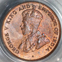 1916 PCGS MS 64 RB Straits Settlements 1/4 Cent Britain Empire Coin (19090903C)