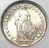 1898 NGC MS 64 Switzerland 1/2 Franc Mint State Swiss Silver Coin (20012201C)