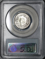 1966 PCGS MS 68 Switzerland 1 Franc Mint State Swiss Coin (20102001C)