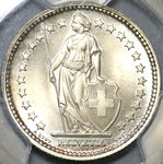 1941 PCGS MS 66 Switzerland 2 Francs Gem Mint State Swiss Silver Coin (20040801C)