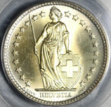 1961 PCGS MS 68 Switzerland 2 Francs Mint State Swiss Coin Pop 4/0 (20102003C)