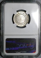 1918-A NGC MS 63 Tunisia 1 Franc Mint State Silver France Colony Coin (20012801C)