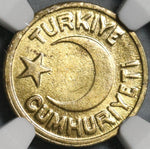 1942 NGC MS 64 Turkey 10 Para Mint State Star Crescent Coin POP 1/2 (21040401D)