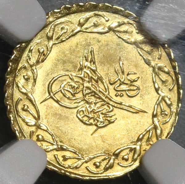 1836 NGC MS 64 Turkey Gold 1/4 Cedid Mahmudiye 1223/29 Coin POP 1/0 (20102601D)