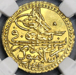 1801 NGC MS 63 Turkey Gold 1 Zeri Mahbub 1203/12 Mint State Coin POP 1/1 (19052902C)