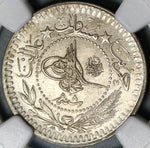 1916 NGC MS 66 Turkey 40 Para Ottoman Empire 1327/8 Mint State Coin POP 1/0 (20102702C)