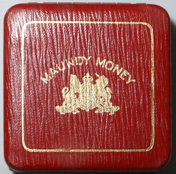 1908 Maundy Coin Set Red Case No Coins with Box Great Britain (20011601R)