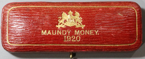 1920 George V Maundy Coin Set Red Case Box No Coins Great Britain (20011101R)