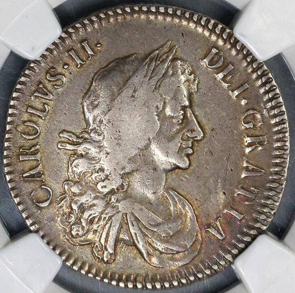 1672 NGC VF 25 Charles II Silver 1/2 Crown Rare Great Britain England Coin (19031603C)