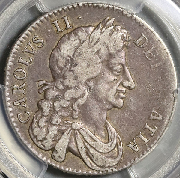 1682 PCGS VF 30 Charles II Silver 1/2 Crown Rare Great Britain England Coin (21010602C)