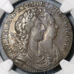 1689 NGC VF 30 William Mary 1/2 Crown Great Britain Silver Coin (21012101D)
