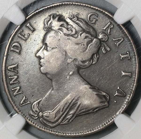 1705 NGC VF 25 Anne 1/2 Crown Great Britain England Silver Rare Coin (20121603C)