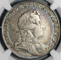 1715 NGC VF 25 George I Silver 1/2 Crown Rare Great Britain 1st Year Issue Coin (20081301C)
