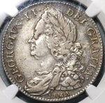 1746 NGC VF 35 George II 1/2 Crown Great Britain Spain Lima Treasure Silver Coin (20102301C)