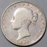 1842 Victoria 1/2 Crown Great Britain Silver Coin (20040301C)