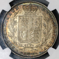 1844 NGC AU Det Victoria 1/2 Crown Great Britain Silver Coin (19030601C)