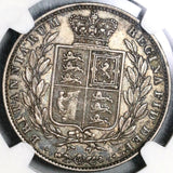 1845 NGC XF 40 Victoria 1/2 Crown Great Britain Silver Coin (20080901C)