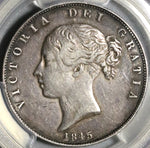 1845 NGC XF Det Victoria 1/2 Crown Great Britain Silver Coin (20053001C)