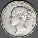 1883 Victoria 1/2 Crown VF Great Britain Sterling Silver Coin (21022801R)