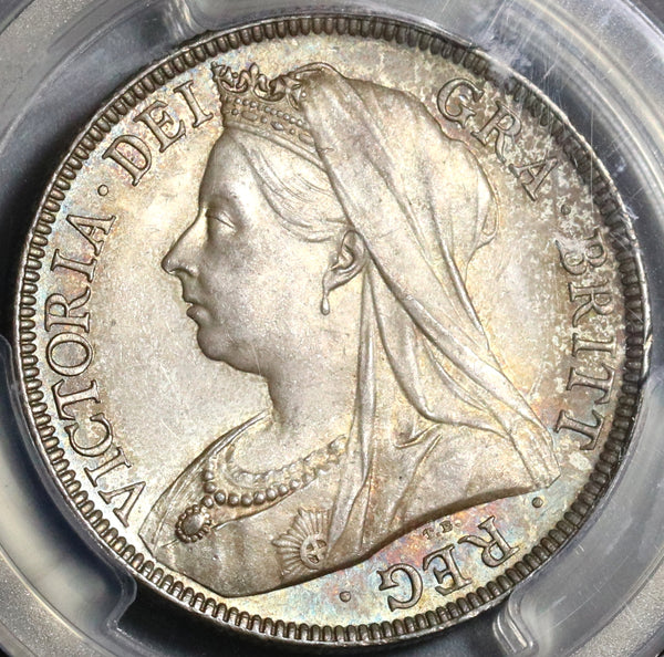 1895 PCGS MS 65 Victoria 1/2 Crown Great Britain Silver GEM Mint State Coin (20020501C)