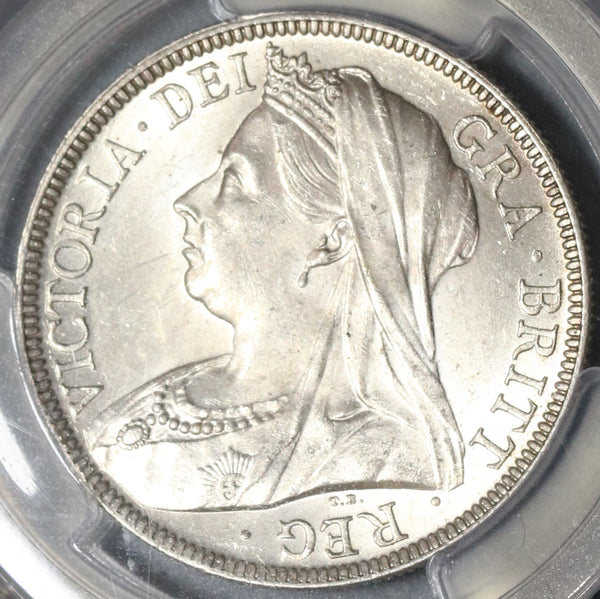 1899 PCGS MS 63 Victoria 1/2 Crown Great Britain Silver Coin (20011101D)