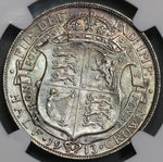 1913 NGC MS 64 1/2 Crown George V Great Britain Rare Date Sterling Silver Coin (18091610C)