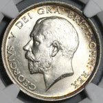 1914 NGC MS 64 1/2 Crown George V Great Britain Silver WWI Coin (21022702D)