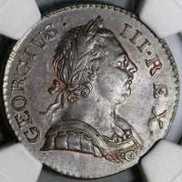 1772 NGC AU Det George III 1/2 Penny Great Britain Colonial Coin (20091602D)