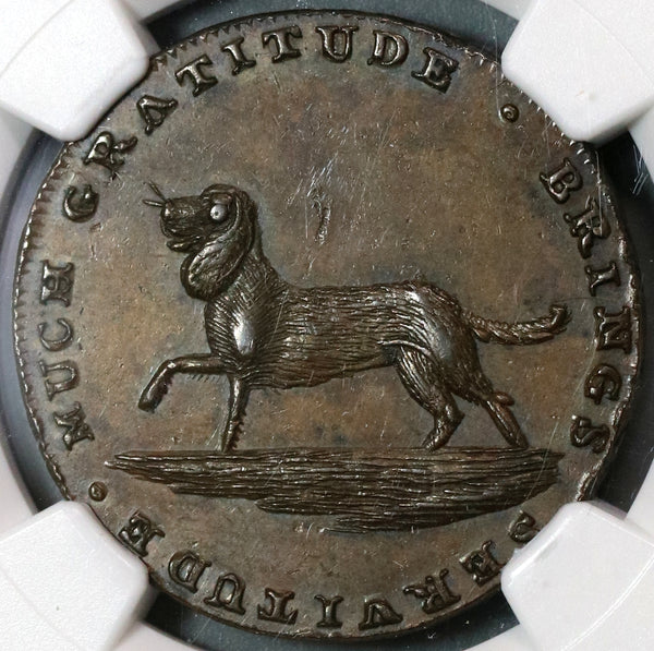 1790s NGC MS 62 Dog Conder 1/2 Penny Spence D&H 750 Mint State Great Britain Coin (19092703C)
