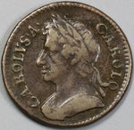 1673 Charles II Farthing Great Britain England Coin (19021201R)