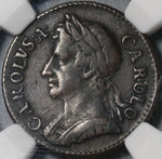 1673 NGC VF Det Charles II Farthing Great Britain England Coin (20072801C)