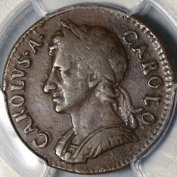 1674 PCGS VF 35 Charles II Farthing Great Britain England 1/4 Penny Coin (19100602R)