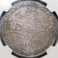 1662 NGC VF 20 Charles II Crown England Great Britain No Edge Year Coin (19091502C)