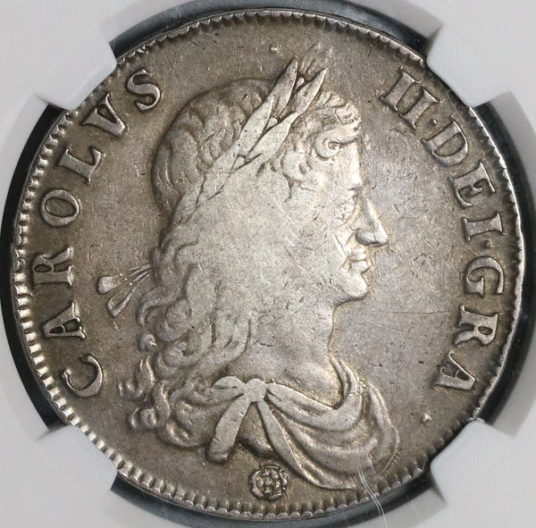 1662 NGC VF 30 Charles II Crown England Great Britain with Edge Year Scarce Coin (19122601C)